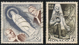 1958 - MONACO - CENTENARIO DELLA PRIMA APPARIZIONE A LOURDES / LOURDES CENTENARY OF THE 1ST APPEARANCE - USATO / USED. - Gebruikt