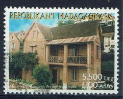Madagascar, 1100 Ariary, Maison Des Hauts Plateaux, 2003, Obl, TB - Madagascar (1960-...)