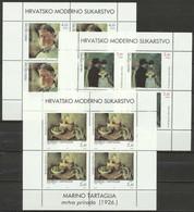 Croatia 1994 ☀ Art Painting Gemalde Mi.295-597 S/S ☀ MNH - Moderni