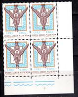 Vaticano (1974) - Posta Aerea, Angelo, In Quartina ** - Posta Aerea