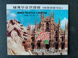 "North Korea 1998 International Stamp Exhibition ""ITALIA '98"" - Italy - Erinnofilia"