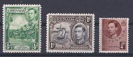 Grenade (1937 1938  King George VI )  N ° 123  132  Et 133 Neuf ** - Grenada (...-1974)