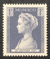 MCO0478MH - Princess Grace Patricia - Birth Of Princess Caroline - 1 F MH Stamp - Monaco - 1957 - Ongebruikt