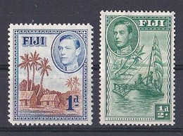 Fidji  (1937 1938  King George VI )  N ° 117 Et  250 Neuf ** - Fiji (...-1970)