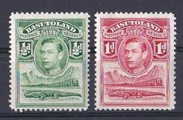 Basutoland  (1937 1938  King George VI ) Yt N ° 18  Et 19 Neuf ** - 1933-1964 Crown Colony