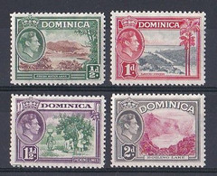 Dominique  (1937 1938  King George VI )  Yt  N ° 92  93  94  95   Neuf ** - Dominica (...-1978)