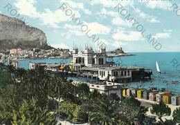 CARTOLINA  MONDELLO-LIDO,PALERMO,SICILIA,MARE,SOLE,ESTATE,BELLA ITALIA,STORIA,MEMORIA,CULTURA,RELIGIONE,VIAGGIATA 1959 - Palermo