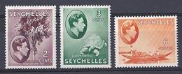 Seychelles  (1937 1938  King George VI )  N ° 135  136  137 Neuf ** - Seychelles (...-1976)