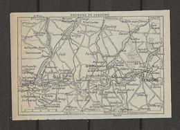 CARTE PLAN 1929 - ENVIRONS De VENDOME - Carte Topografiche