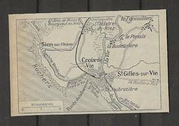 CARTE PLAN 1929 - SION Sur L'OCÉAN - CROIX De VIE - St GILLES Sur VIE - LE FENOUILLER - Carte Topografiche