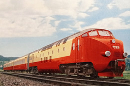 Cartolina - Trans Europ Express - Zurich - Basel - Bruxelles - Amsterdam - 1962 - Altri