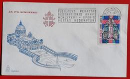 VATICANO VATIKAN VATICAN 1983 APERITE PORTAS REDEMPTORI ANNO SANTO STRAORDINARIO HOLY YEAR HEILIGES JAHR - Storia Postale