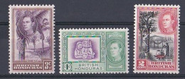 Honduras (1937 1938 King George VI )  N ° 150  151  152   Neuf ** - British Honduras (...-1970)