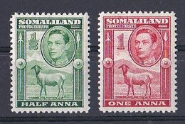 Somaliland  (1937 1938  King  George VI )  Yt  N ° 88 Et 89  Neuf ** - Somaliland (Protectorate ...-1959)