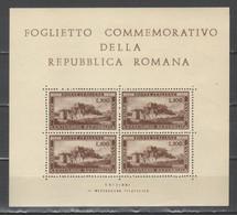 Italia - Foglietto Commemorativo Repubblica Romana - Varietà E Curiosità