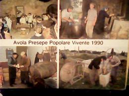 AVOLA PRESEPE POPOLARE VIVENTE  1990 BOTTI  LAVORO ARTIGIANO N1990 IG10502 - Siracusa
