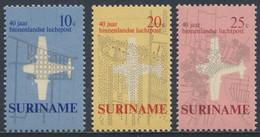 Suriname 1970 Mi 581 /3 SG 676 /8 ** 40 Years Of Inland Airmail Flight /  Luftpostdienst Im Inland - Stadtplänen - Posta