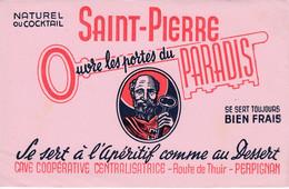Buvard & Blotter -  Saint Pierre - Apéritif - Cave Coopérative Centralisatrice - Route De Thuir - Perpignan - Ohne Zuordnung