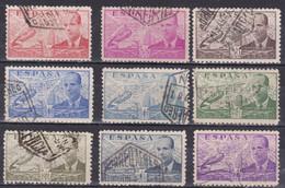 1941 - 47  JUAN DE LA CIERVA CORREO AEREO LOTE USADOS - 1931-50 Usati