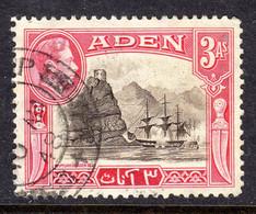 ADEN - 1939 3 ANNA KGVI DEFINITIVE STAMP USED SG 22 REF C - Aden (1854-1963)