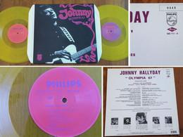 """RARE French DOUBLE LP 33t RPM (12"""") JOHNNY HALLYDAY (éd. Ltd 3500 Copies Et Numérotée, Vinyles Jaunes) - Rock"""