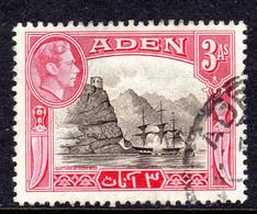 ADEN - 1939 3 ANNA KGVI DEFINITIVE STAMP USED SG 22 REF D - Aden (1854-1963)