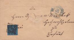AD Braunsweig Brief 1865 (loch In Mitten Brief) - Brunswick