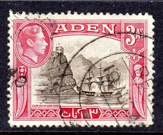 ADEN - 1939 3 ANNA KGVI DEFINITIVE STAMP USED SG 22 REF F - Aden (1854-1963)