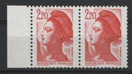 """N° 2376 Type Liberté Avec Variété """"griffe/trait Sur L'épaule"""" Neufs ** (MNH). TB - Varieties: 1980-89 Mint/hinged"""