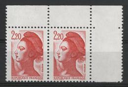 "N° 2376 Type Liberté Avec Variété ""Grain De Beauté"" Neufs ** (MNH) . TB - Varieties: 1980-89 Mint/hinged"