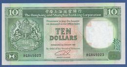 HONG KONG - HSBC - P.191c – 10 Dollars 01.01.1992 UNC Serie RG845023 - Hongkong