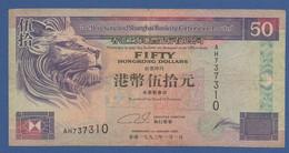 HONG KONG - HSBC - P.202a – 50 Dollars 01.01.1993 Circulated Serie AH737310 - Hongkong