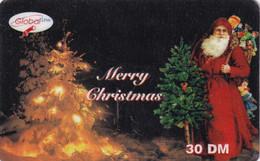 GERMANY - Santa Claus, Merry Christmas, Global Line Prepaid Card 30 DM, Exp.date 31/03/01, Used - Natale