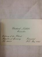 1981 ? - Eberhard Noeldeke  Counsello Embassy Of The Federal Republic Of Germany Islamabad Pakistan Islamabad Pakistan - Visiting Cards