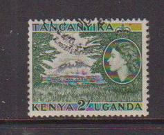 KENYA  UGANDA   TANGANYIKA    1954    2/-  Black  And  Green    USED - Kenya, Uganda & Tanganyika