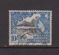 KENYA  UGANDA   TANGANYIKA    1954    10/-  Black  And  Blue    USED - Kenya, Uganda & Tanganyika