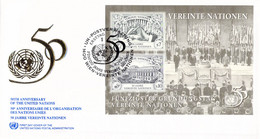 United Nations New York FDC 1995 United Nations 50 Years Souvenir Sheet (DD31-53) - FDC