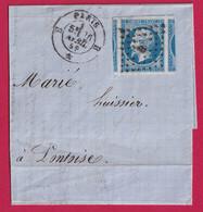N°14 SUPERBE 6 VOISINS SUR GRAND FRAGMENT PARIS BUREAU B POUR PONTOISE - 1849-1876: Classic Period