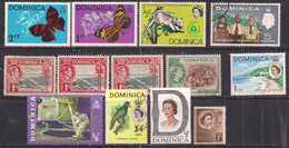 Dominica Selection Of 14  Nice  Stamps ( D978 ) - Dominica (...-1978)