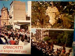 5 CARD CANICATTI VEDUTE E SAGRA DELL'UVA   N1975 IG10531 - Agrigento