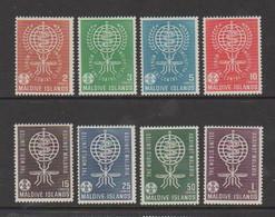 MALDIVE  ISLANDS    1962    Malaria  Eradication    Set  Of  8    MH - Maldive (1965-...)