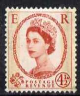 Great Britain 1959 Wilding Phosphor-graphite 4.5d Unmounted Mint SG609 - Unused Stamps