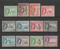 SOMALILAND    1953    Various  Designs    Set  Of  12    USED - Somaliland (Protectorate ...-1959)