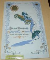 """1912  PUBBLICITA'  MERCEDEZ  BENZ  24  X  15,50 CENTIMETRI + PUBBLICITA' VINO MARSALA """" ZANCLA """"  SUL RETRO - Altri"""