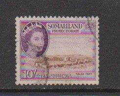 SOMALILAND    1953    10/-  Brown  And  Violet    USED - Somaliland (Protectorate ...-1959)