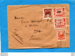 ROUMANIE LETTRE Cad 1951->Françe-3 Stamps 1136 Patinage 1 Surch DAX+1103  Surcharge DAX Inversée - Cartas