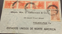 O) 1935 ARGENTINA, MARIANO MORENO, OIL WELL, PETROLEUM, ONG, CIRCULATED TO USA - Covers & Documents