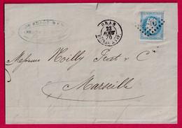 N°29 CAD ORAN BATEAUX A VAPEUR GC 2240 MARSEILLE NOILLY PRAT - 1849-1876: Période Classique