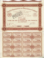 Titre Ancien - Société Parisienne Des Brasseries Claridge  - Titre De 1936 - - Industrie