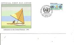 ONU ( FDC De Marshall De 1991 à Voir) - ONU